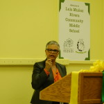 Congresswoman Bonnie-Watson Coleman addresses the group