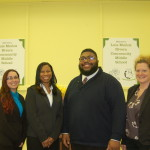 MSF's Community School Staff: Jessica Hammond (far left), Anniesha Walker, Patrick Williams, Catherine Jones
