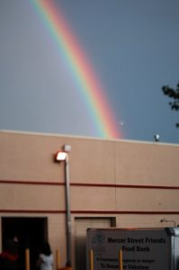 MSF Food Bank Truck with Rainbow